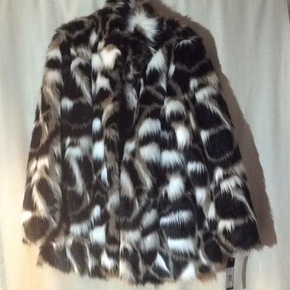 Bianca Nygard Jackets & Blazers - Bianca faux fur coat, size med